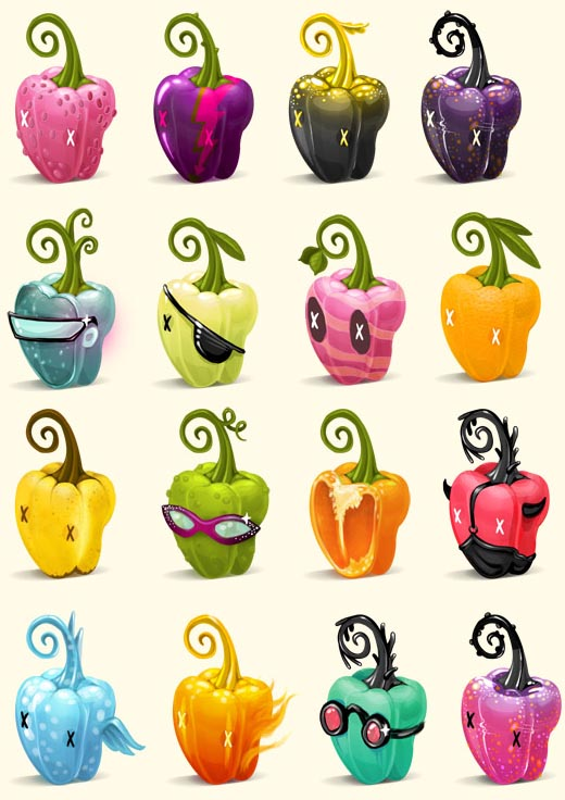 перцовые иконки