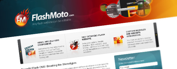 FlashMoto CMS design