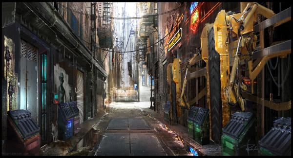 Футуристические пейзажи городов